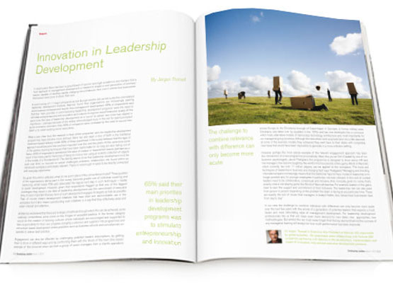 Art Direction example - Developing Leaders Magazine