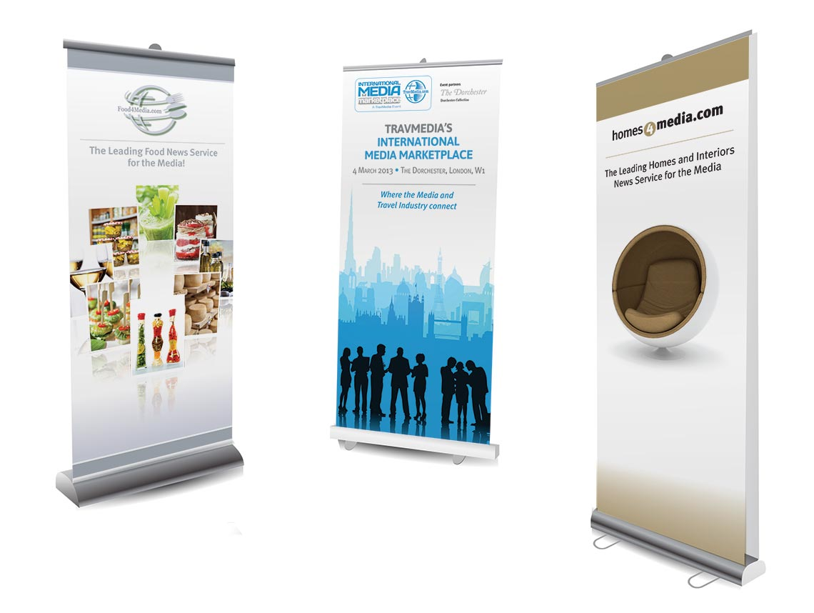 Various Pop Up and Banner Stand Designs